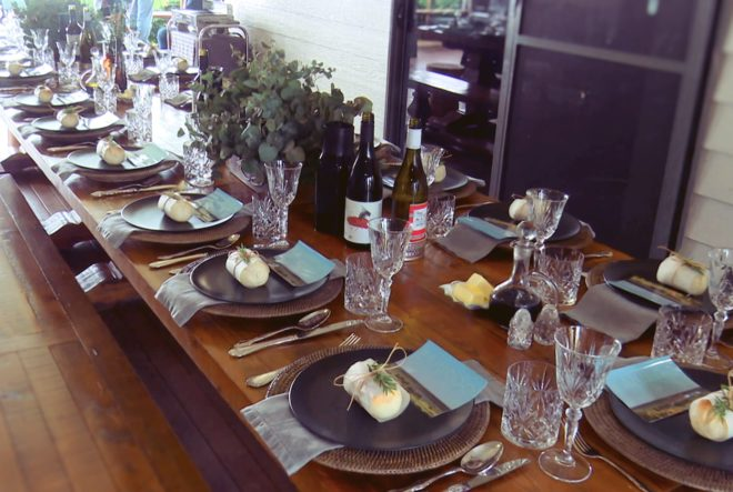 Guests enjoyed Kaiuroo organic beef and organic beer and wine for lunch